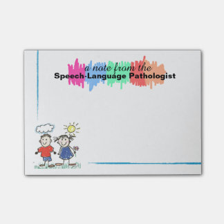 Colorful Speech-Language Pathologist Sticky Notes