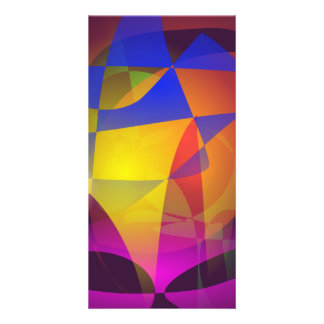 Colorful Spider s Web Photo Greeting Card