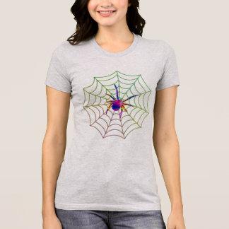 colorful spider web design t-shirt