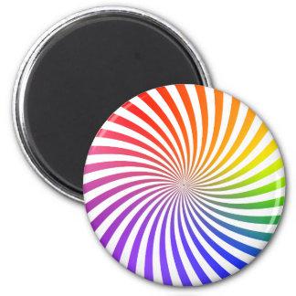 Colorful Spiral Design: Magnet