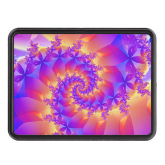 Colorful Spiral Fractal Hitch Cover