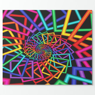 Colorful Spiral  Frames Wrapping Paper