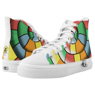 Colorful spiral high tops