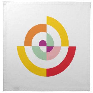 Colorful Spiral Napkin