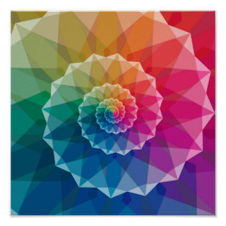 Colorful Spiral Pattern Poster