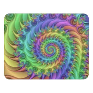 Colorful Spiral Pattern Print Design Door Sign