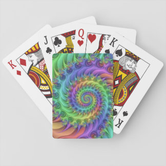 Colorful Spiral Pattern Print Design Playing Cards