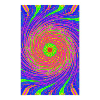 Colorful Spiral Pattern: Personalised Stationery
