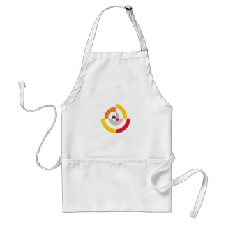 Colorful Spiral Standard Apron