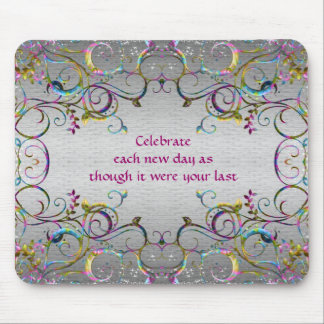 Colorful Spiral Swirl Patterns - Celebration Mouse Pad
