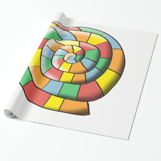 Colorful spiral wrapping paper