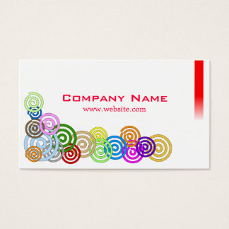 Colorful Spirals Business Card