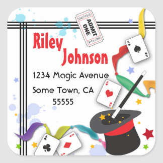 Colorful Splash Fun with Magic Address Label