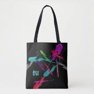Colorful Splash of Paint Personalized Tote Bag