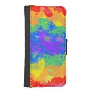 Colorful splash of tie dye watercolor casing
