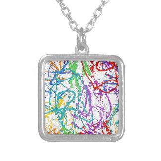 Colorful Splatter Paint Pattern Pendants