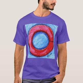 Colorful split washer blue t -shirt T-Shirt
