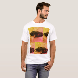 Colorful Sports Car Background. T-Shirt