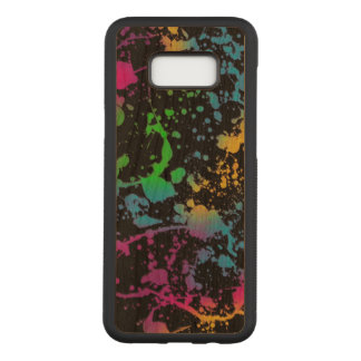 colorful sports stains art carved samsung galaxy s8+ case