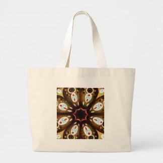 colorful spot pattern large tote bag