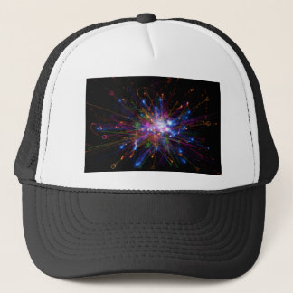 Colorful spot trucker hat