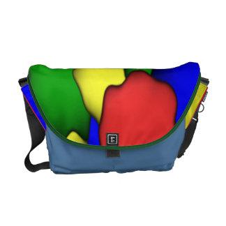 Colorful Spots Rickshaw Messenger Bag