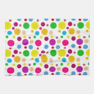 Colorful Spots Tea Towel