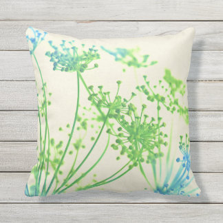 Colorful Spray of Flowers Outdoor Throw Pillow