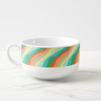 Colorful Spring Abstract Pattern Soup Mug