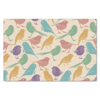 Colorful Spring Bird Pattern Tissue Paper