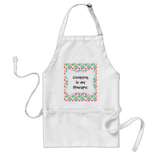 Colorful Spring Easter Eggs Pattern Adult Apron