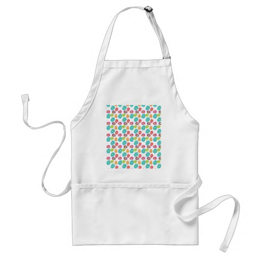 Colorful Spring Easter Eggs Pattern Gifts Apron