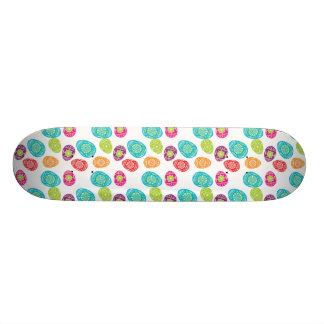 Colorful Spring Easter Eggs Pattern Skate Deck