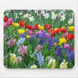 Colorful spring flower garden mousepad