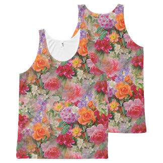 Colorful Spring Flowers All-Over Print Singlet