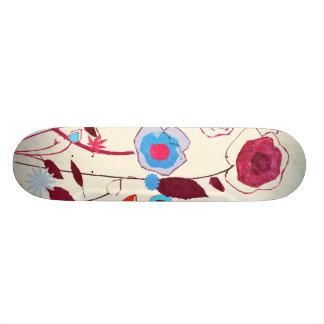 Colorful Spring Flowers Birds Mulberry Blue Orange 21.6 Cm Skateboard Deck