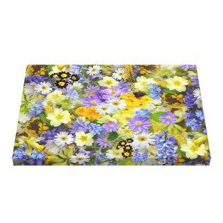 Colorful spring flowers composition canvas prints