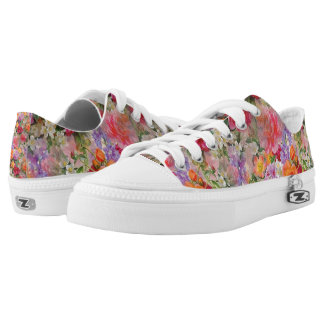 Colorful Spring Flowers Low Tops