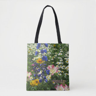 Colorful Spring Garden! Geometric side 2 Tote Bag