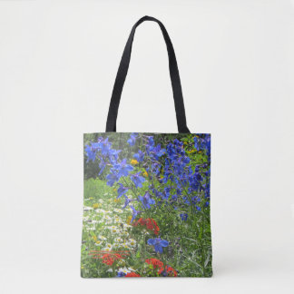 Colorful Spring Garden! Larkspar Blue Tote Bag
