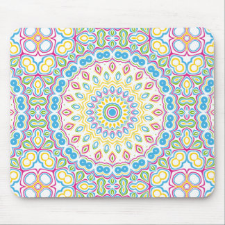 Colorful Spring Mandala Medallion Mouse Pad