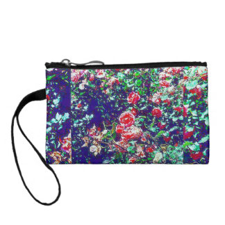 Colorful Spring Rose Bushes Key Coin Clutch Coin Purse