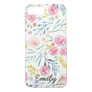 Colorful Spring Watercolor Floral iPhone 7 Case