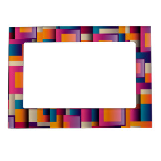 Colorful Square Designed Magnetic Frame