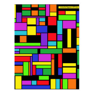 Colorful Square-Off II by JaguarJulie Postcard