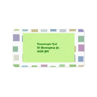 Colorful Squares Address Label