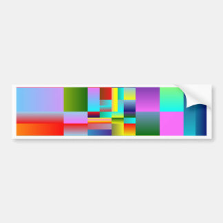 Colorful Squares and Rectangles Bumper Stickers