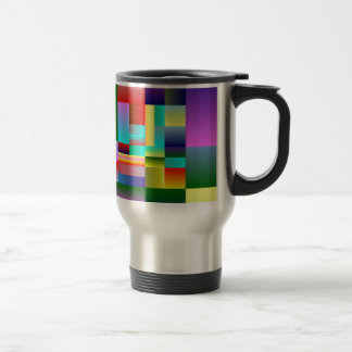 Colorful Squares and Rectangles Travel Mug