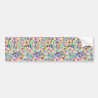Colorful Squares Bumper Sticker