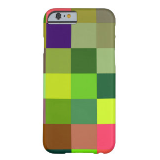 Colorful squares pattern barely there iPhone 6 case
